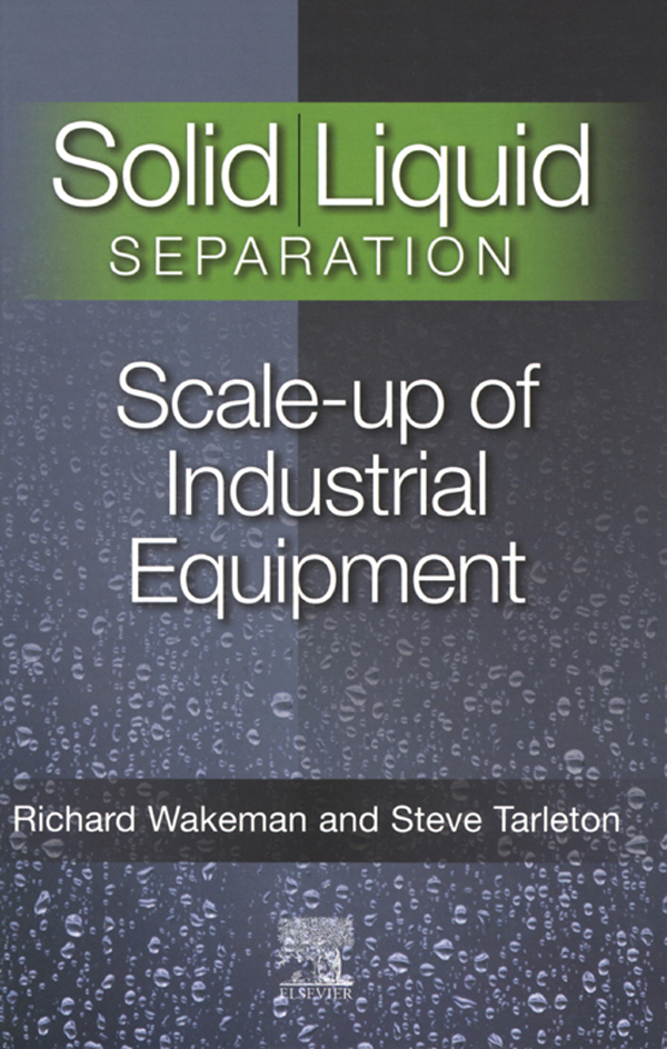 Solid/Liquid Separation Scale-up of Industrial Equipment