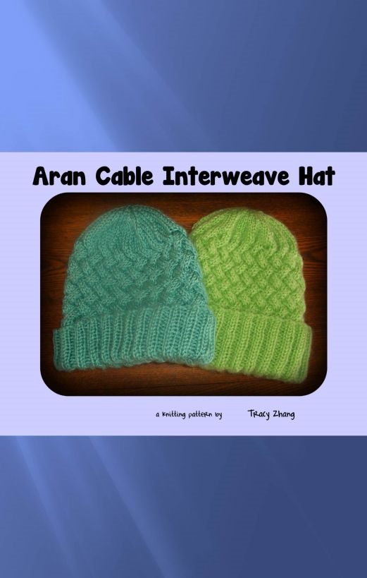 Aran Cable Interweave Hat: A Knitting Pattern