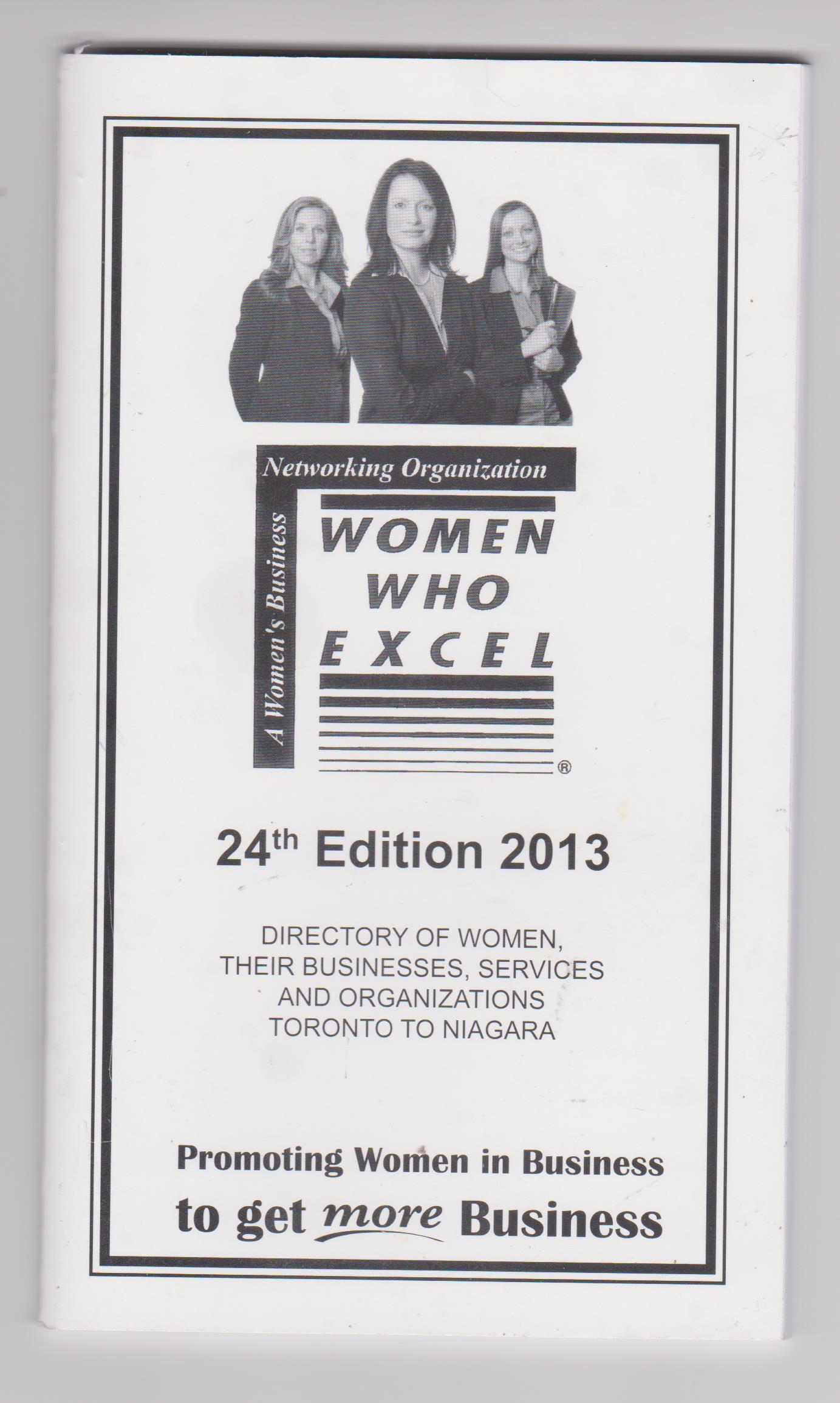 Christine Whitlock - WOMEN WHO EXCEL 24th Edition 2013