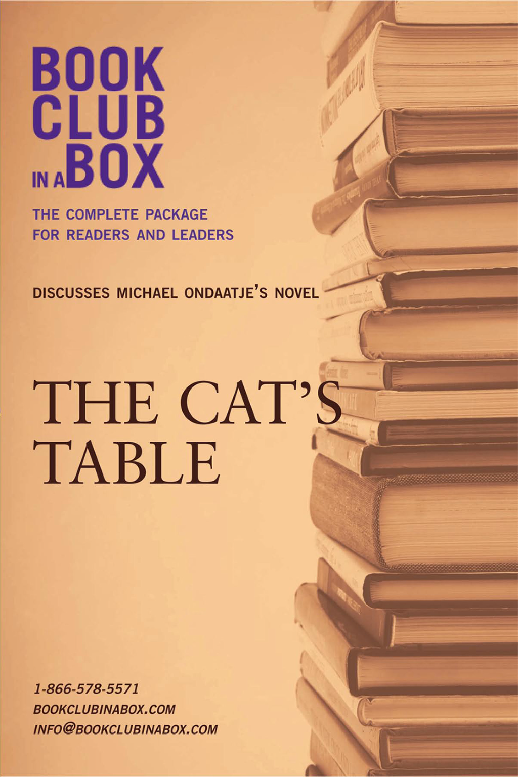 Bookclub-in-a-Box Discusses The Cat's Table, by Michael Ondaatje By: Jo-Ann Zoon,Marilyn Herbert