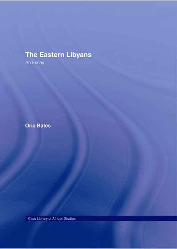 The Eastern Libyans (1914)