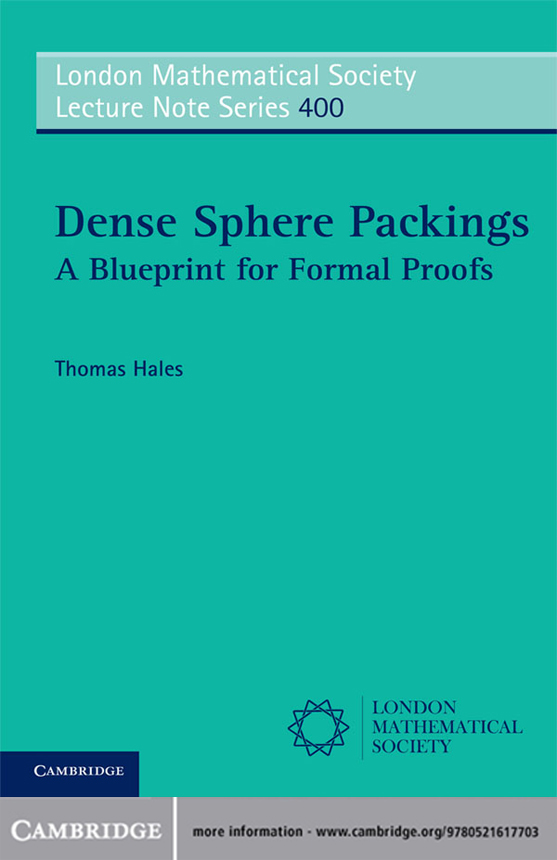 Dense Sphere Packings A Blueprint for Formal Proofs