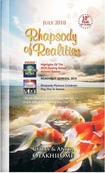 Rhapsody of Realities July Edition By: Pastor Chris and Anita Oyakhilome