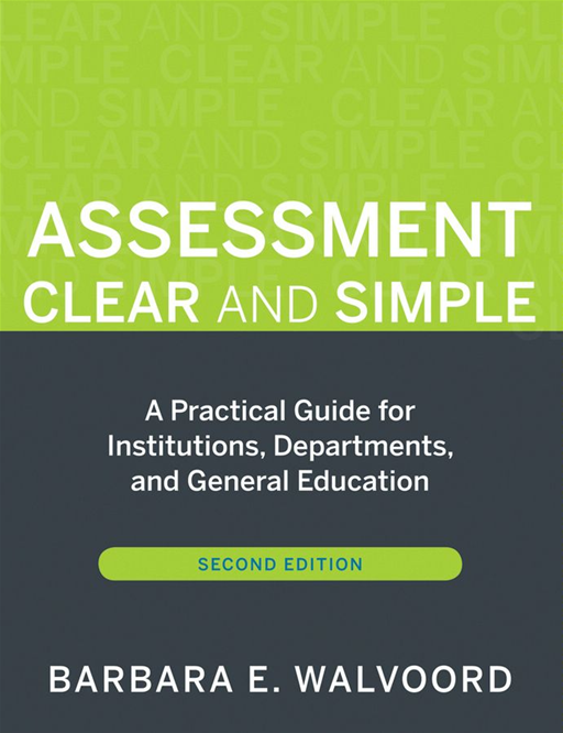 Assessment Clear and Simple By: Barbara E. Walvoord