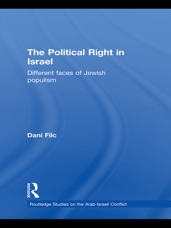 The Political Right in Israel Different Faces of Jewish Populism