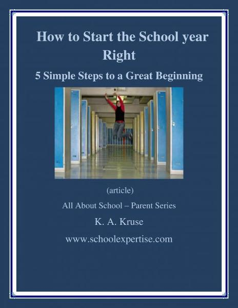 How to Start the School Year RIGHT!: 5 Simple Steps to a Great Beginning