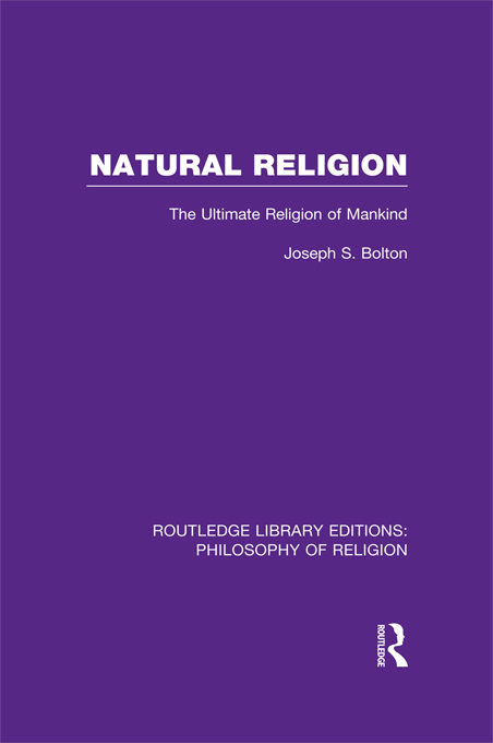 Natural Religion The Ultimate Religion of Mankind