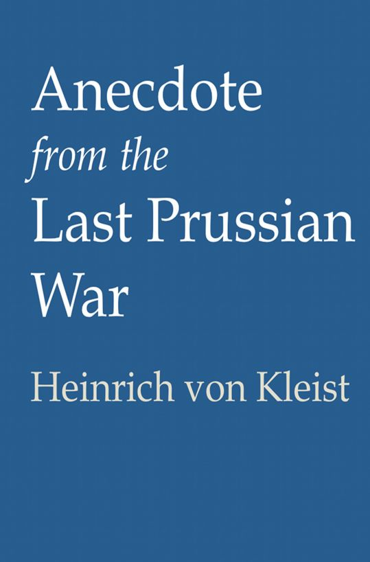 Anecdote from the Last Prussian War