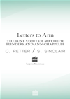 Letters To Ann The Love Story Of Matthew Flinders And Ann Chappelle: