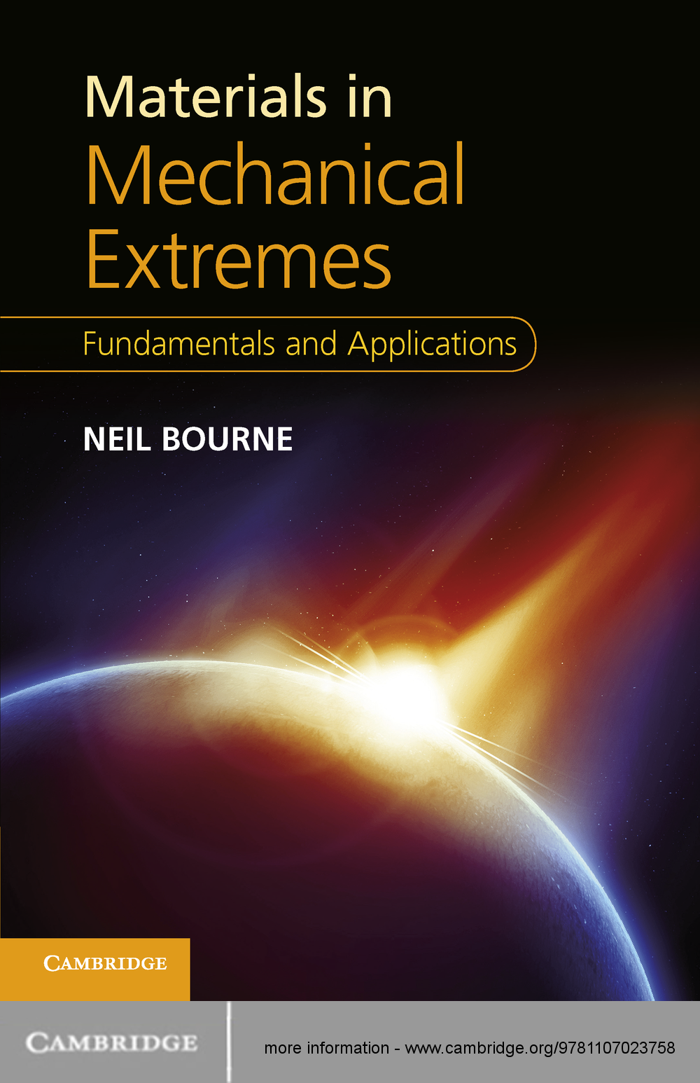 Materials in Mechanical Extremes Fundamentals and Applications