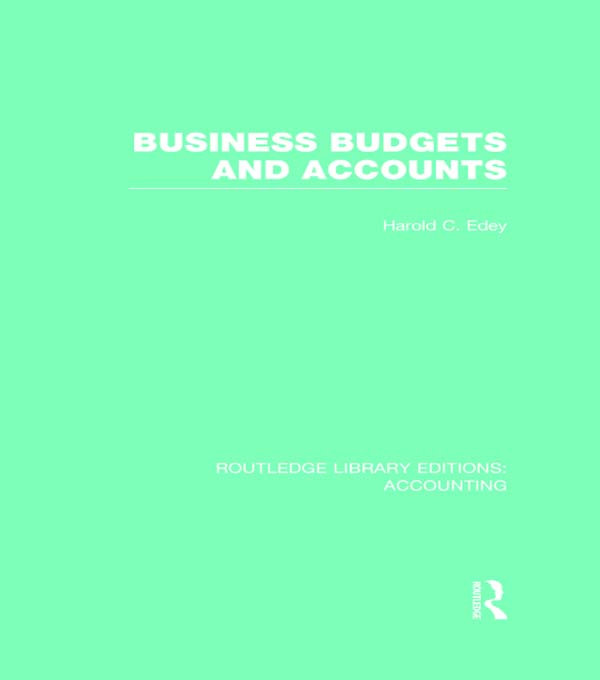 Business Budgets and Accounts