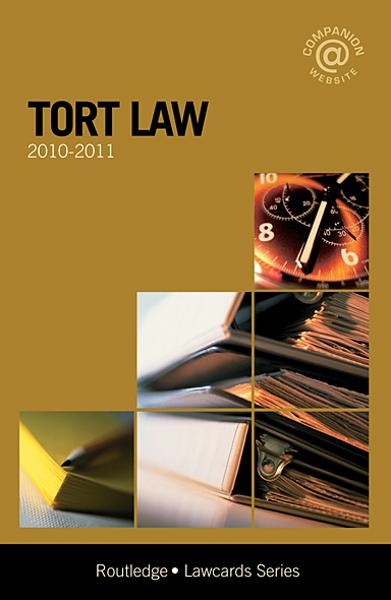 Tort Lawcards 2010-2011