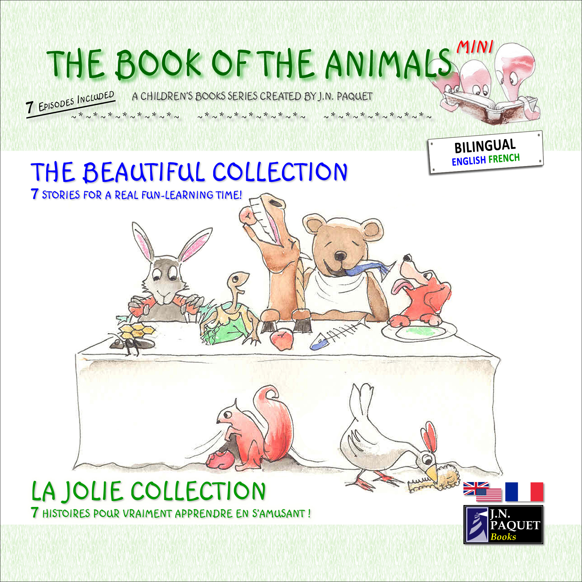 The Book of The Animals - Mini - The Beautiful Collection (Bilingual English-French)