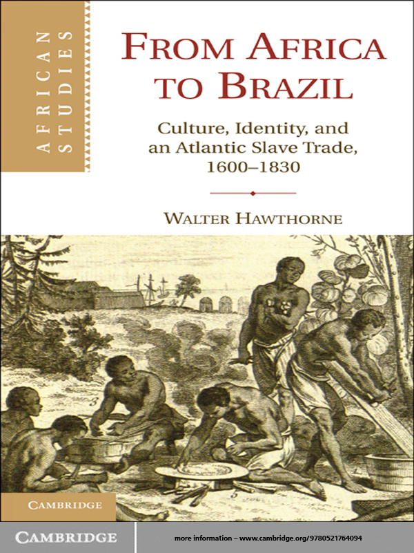 From Africa to Brazil Culture,  Identity,  and an Atlantic Slave Trade,  1600?1830
