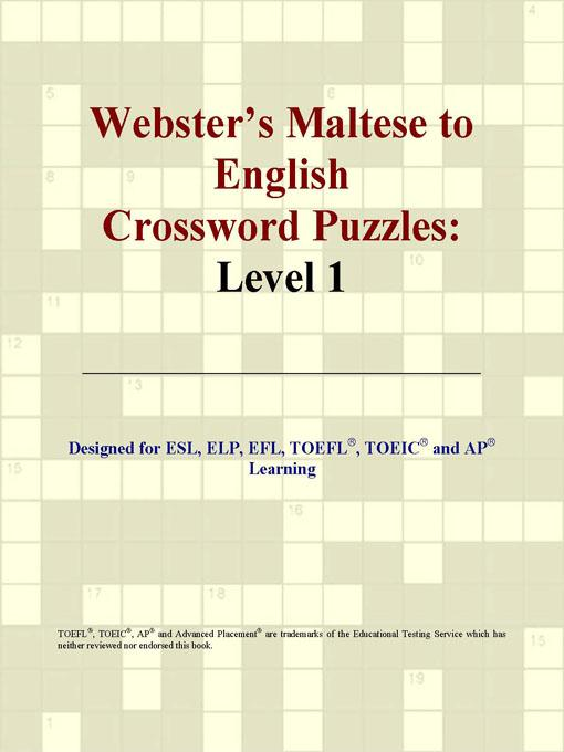 ICON Group International - Webster's Maltese to English Crossword Puzzles: Level 1