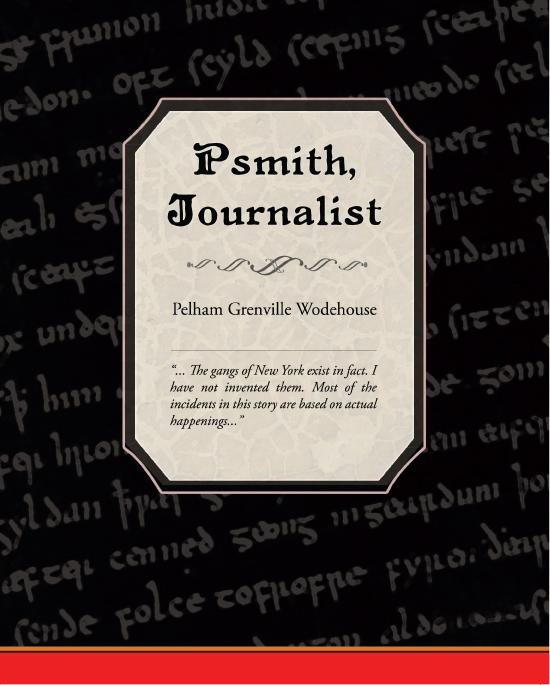 Cover Image: Psmith, Journalist