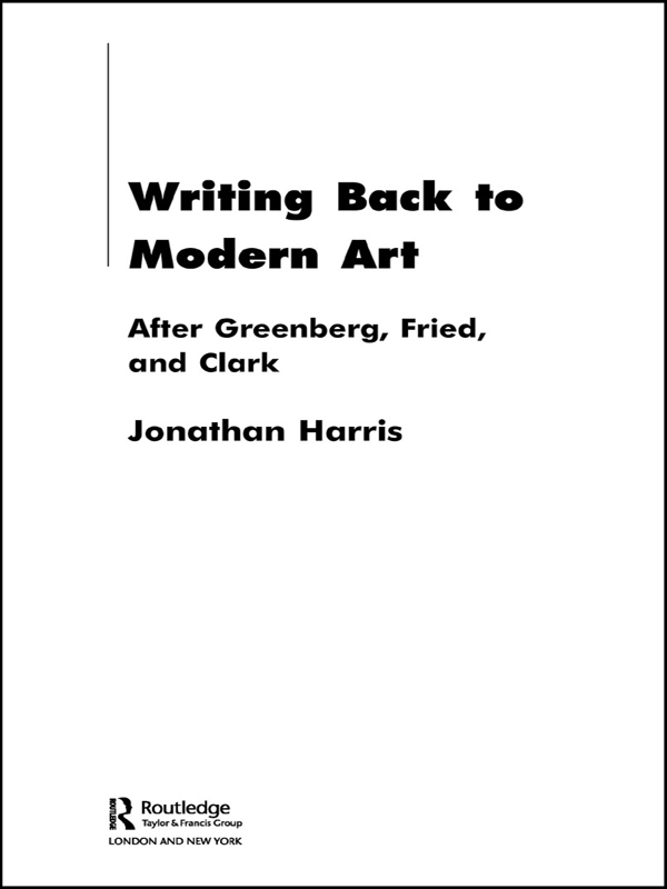 Writing Back to Modern Art