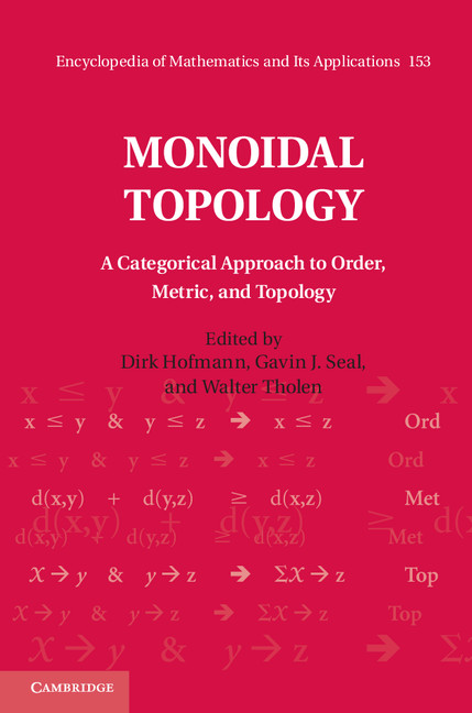 Monoidal Topology A Categorical Approach to Order,  Metric,  and Topology