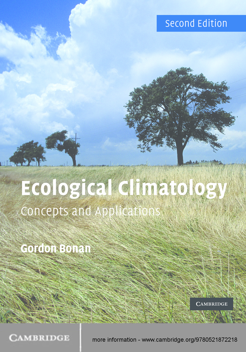 Ecological Climatology Concepts and Applications