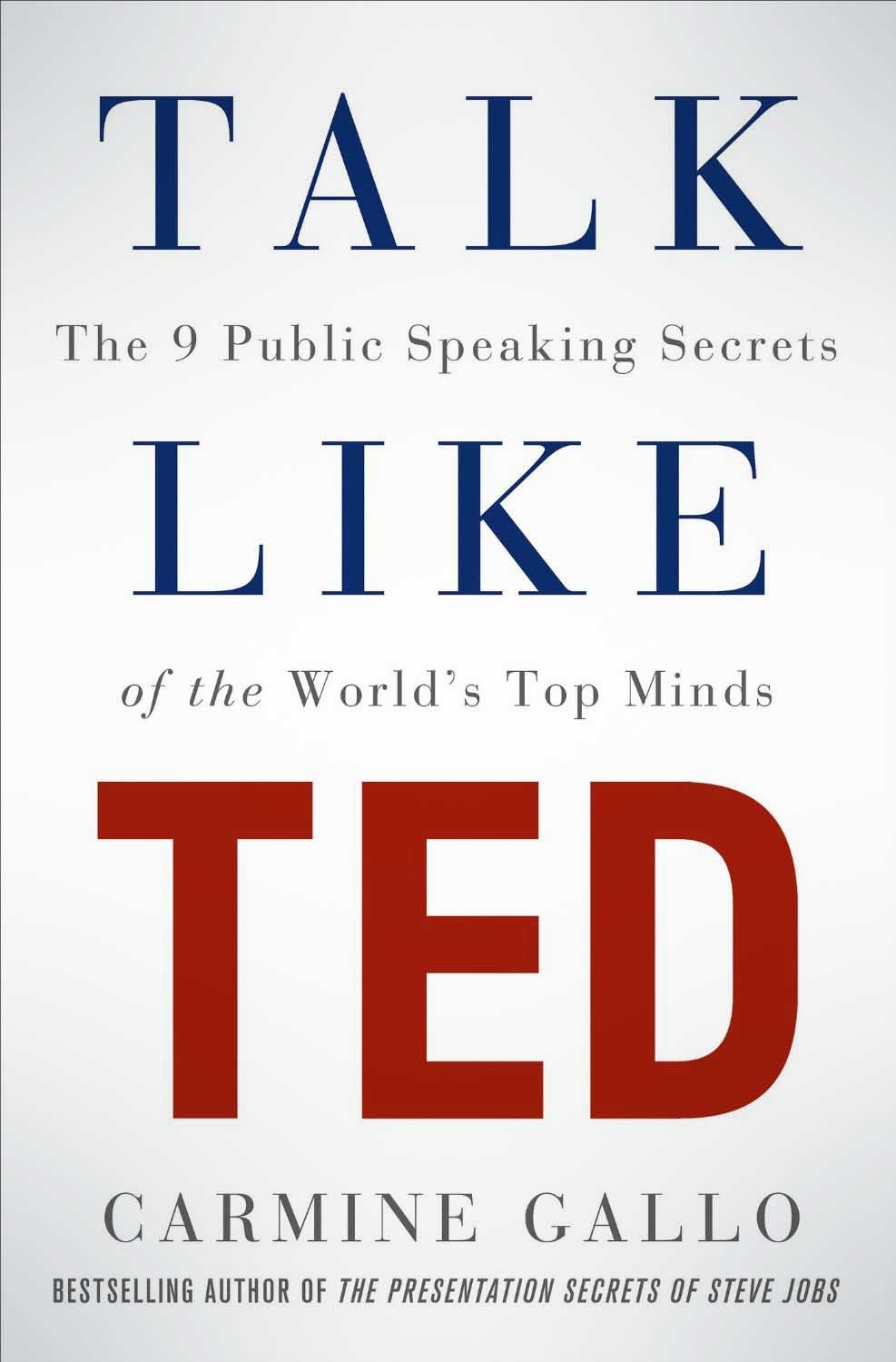 Talk Like TED The 9 Public Speaking Secrets of the World's Top Minds