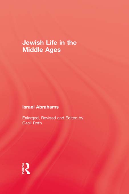 Jewish Life In The Middle Ages