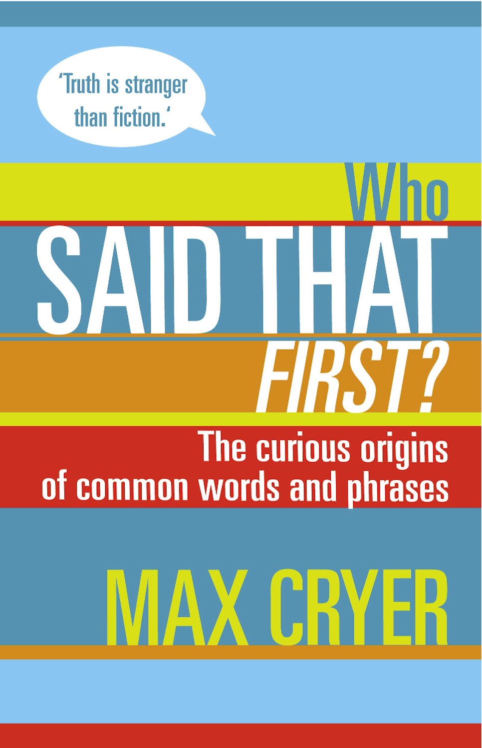 Who Said That First? The curious origins of common words and phrases By: Max Cryer