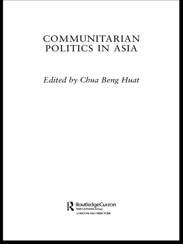 Communitarian Politics in Asia
