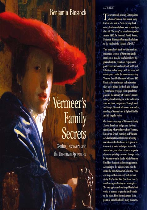 Vermeer's Family Secrets Genius,  Discovery,  and the Unknown Apprentice