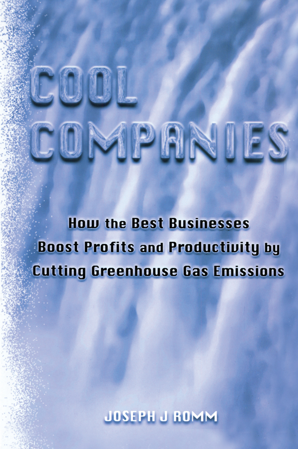 Cool Companies How the Best Businesses Boost Profits and Productivity by Cutting Greenhouse Gas Emmissions