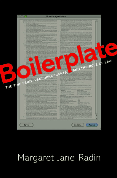 Boilerplate By: Margaret Jane Radin