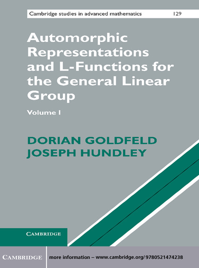 Automorphic Representations and L-Functions for the General Linear Group: Volume 1