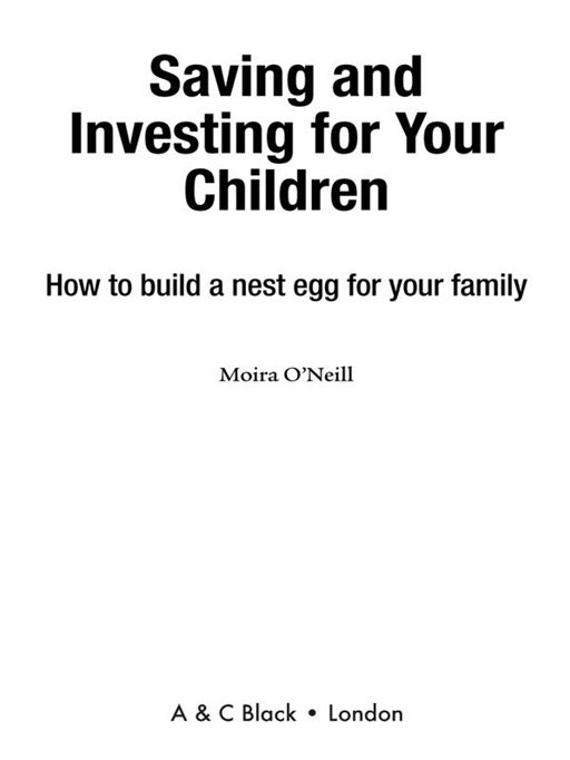 Saving and Investing for Your Children How to Build a Nest Egg for Your Family
