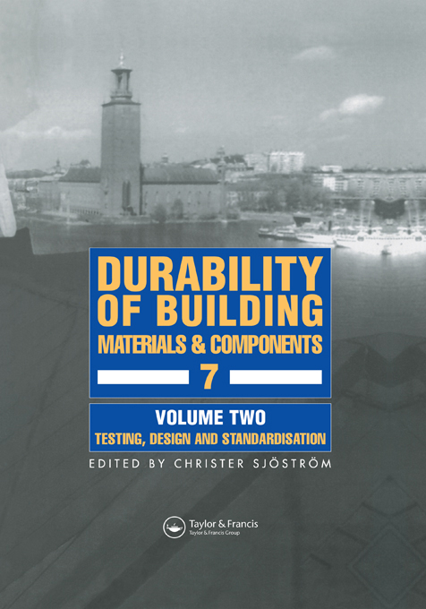 Durability of Building Materials and Components 7 Proceedings of the seventh international conference