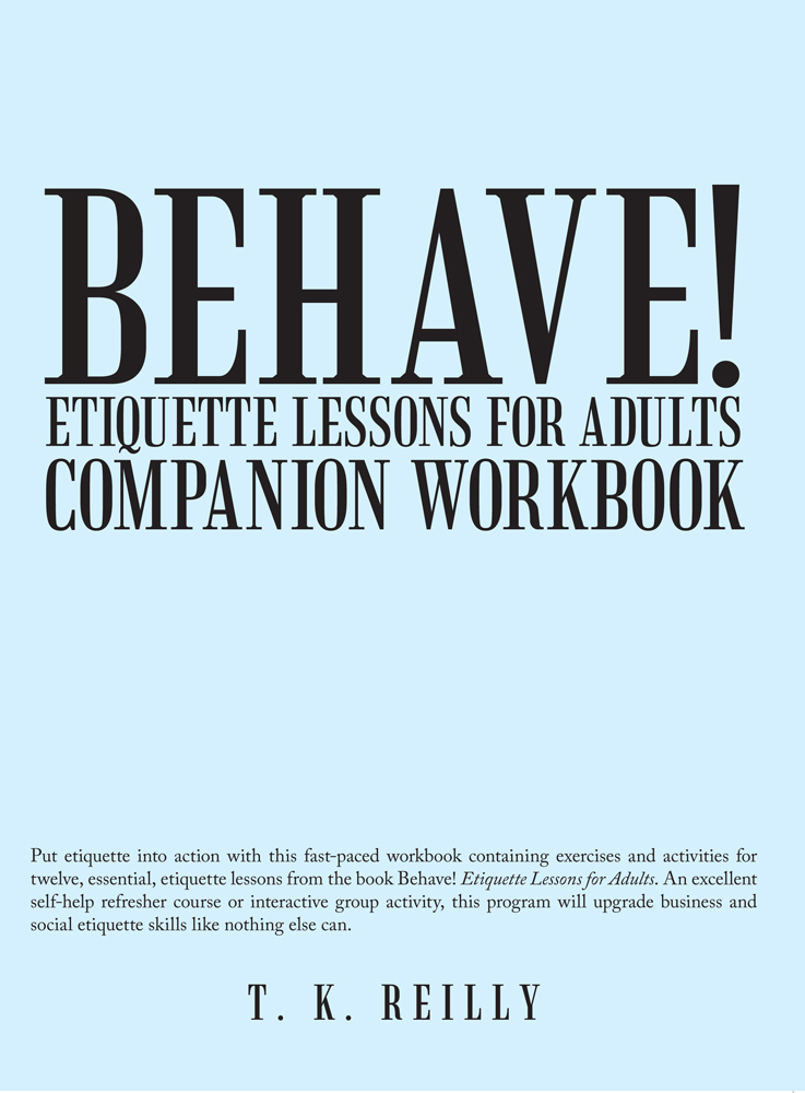 Behave! Etiquette Lessons for Adults