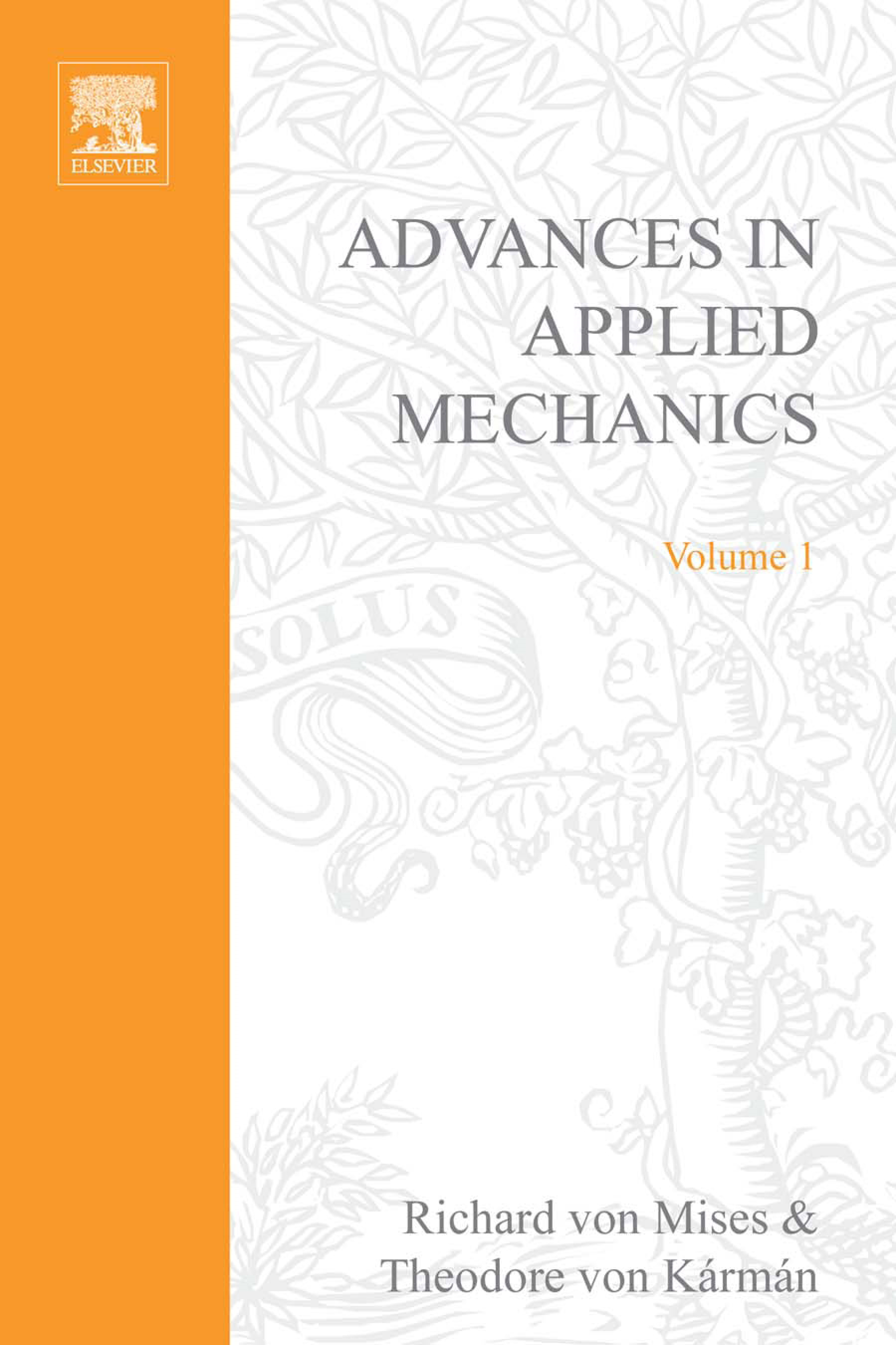 ADVANCES IN APPLIED MECHANICS VOLUME 1