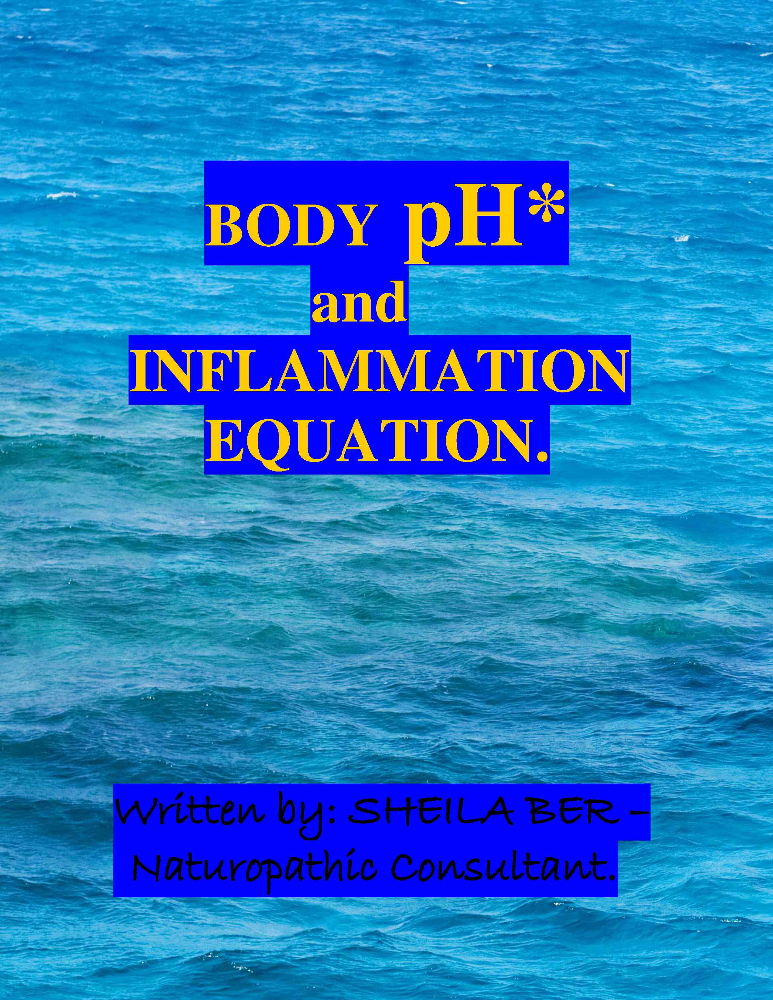 BODY pH AND THE INFLAMMATION EQUATION - By SHEILA BER.