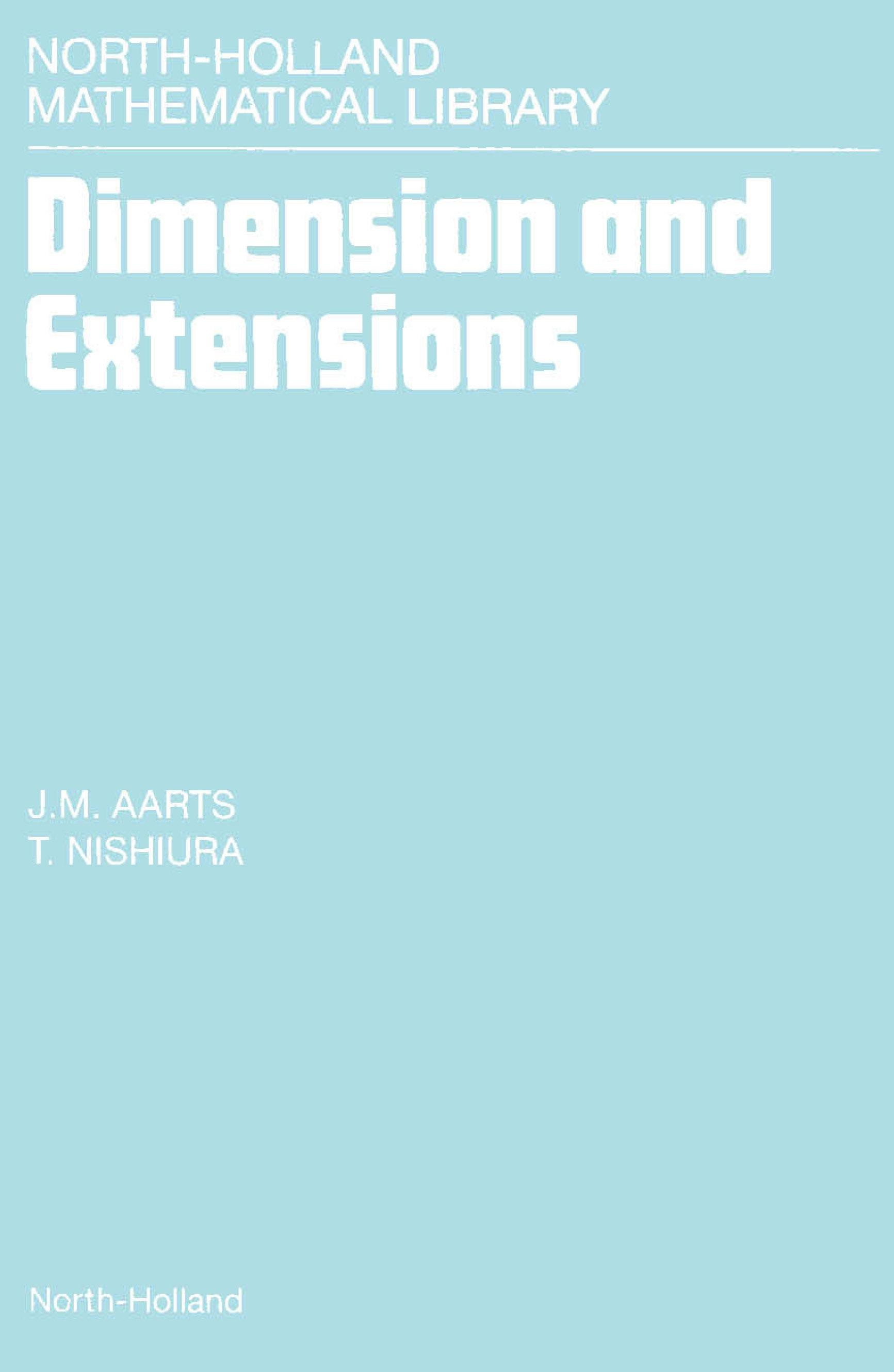 Dimension and Extensions By: Aarts, J.M.