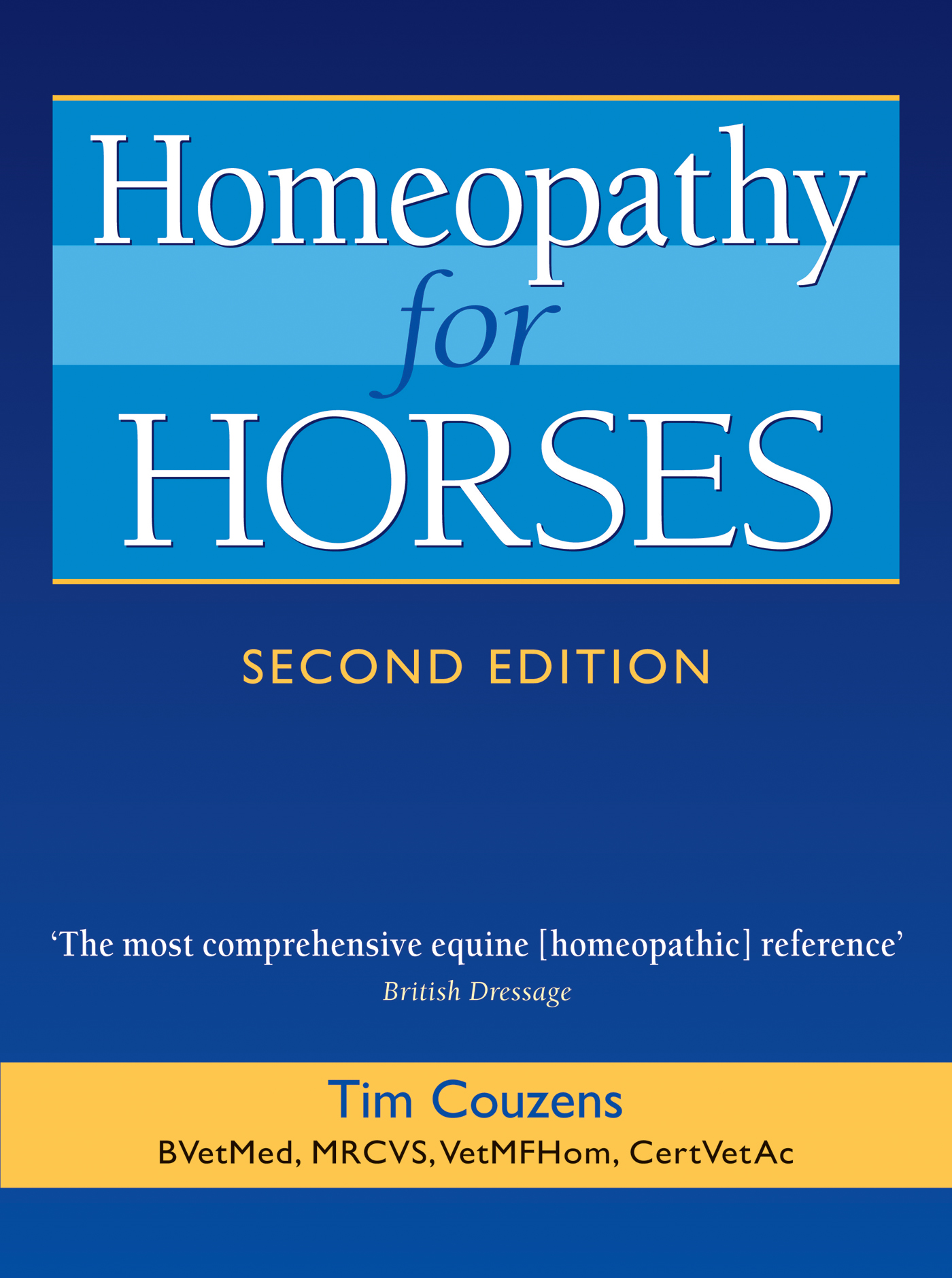 Homeopathy for Horses By: Tim Couzens