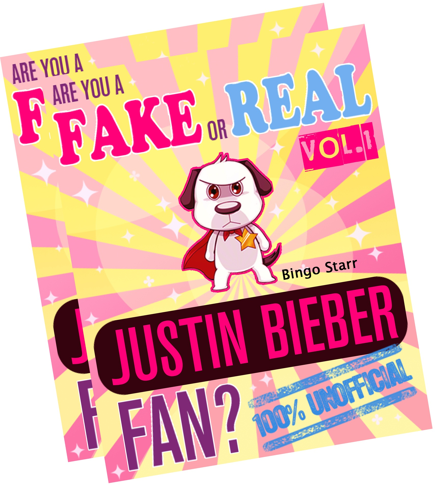 Are You a Fake or Real Justin Bieber Fan? Bundle - Volumes 1.2 - The 100% Unofficial Quiz and Facts Trivia Travel Set Game