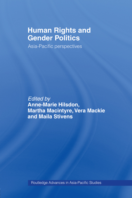 Human Rights and Gender Politics Asia-Pacific Perspectives