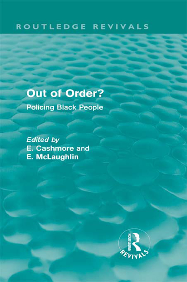 Out of Order? Policing Black People Policing Black People
