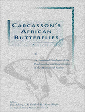 Carcasson's African Butterflies: An Annotated Catalogue of the Papilionoidea and Hesperioidea of the Afrotropical Region