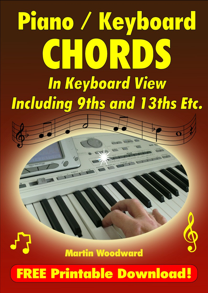Piano / Keyboard Chords - In Keyboard View Including 9ths and 13ths Etc. By: Martin Woodward