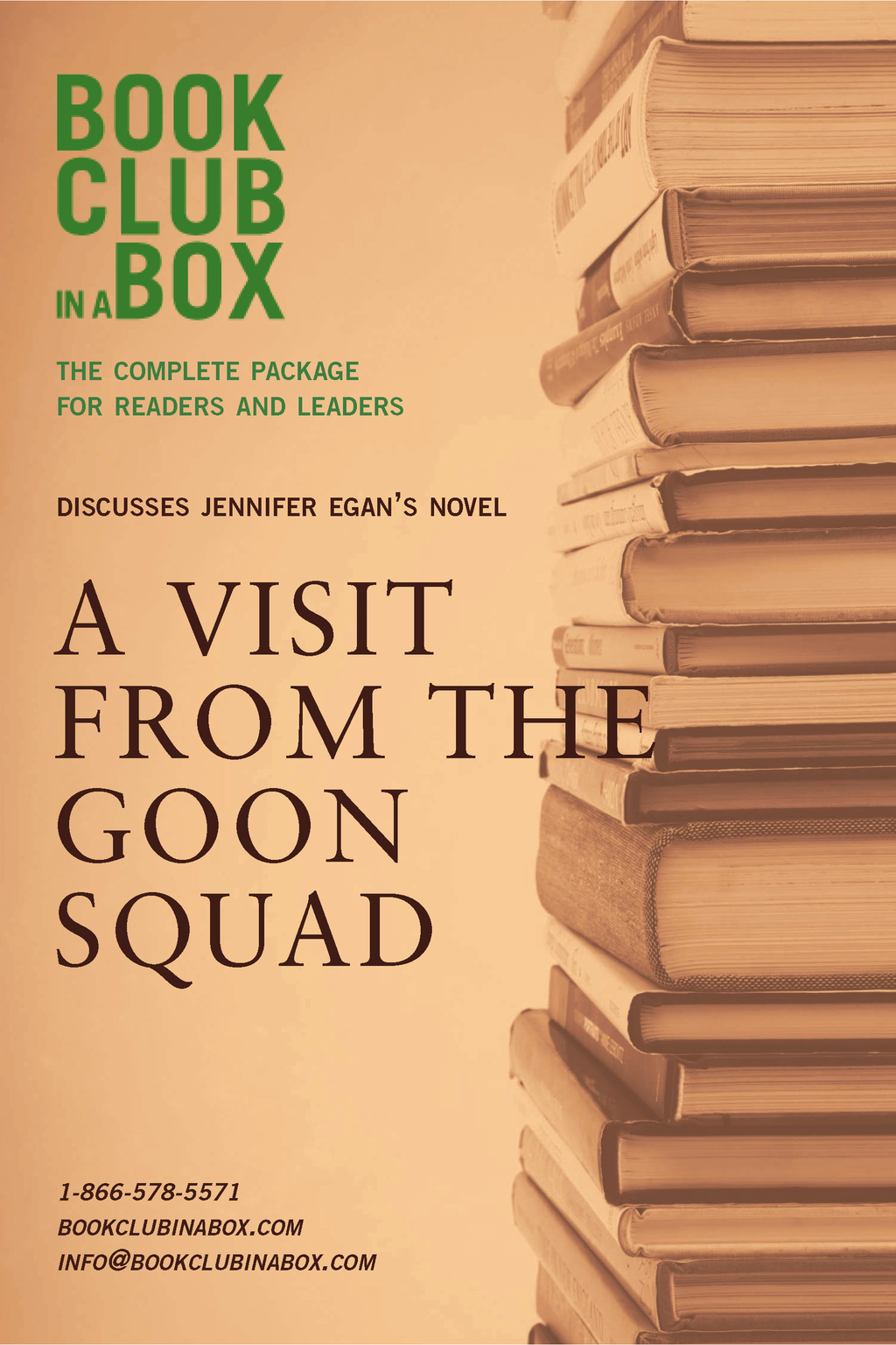 Bookclub-in-a-Box Discusses A Visit From The Goon Squad, by Jennifer Egan