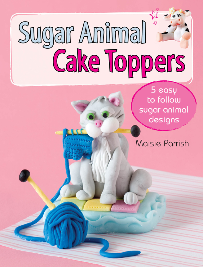 Sugar Animal Cake Toppers 5 easy to follow sugar animal designs