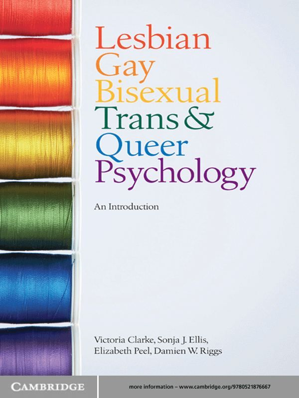 Lesbian,  Gay,  Bisexual,  Trans and Queer Psychology An Introduction