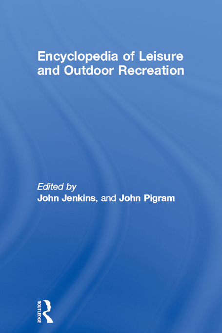Encyclopedia of Leisure and Outdoor Recreation