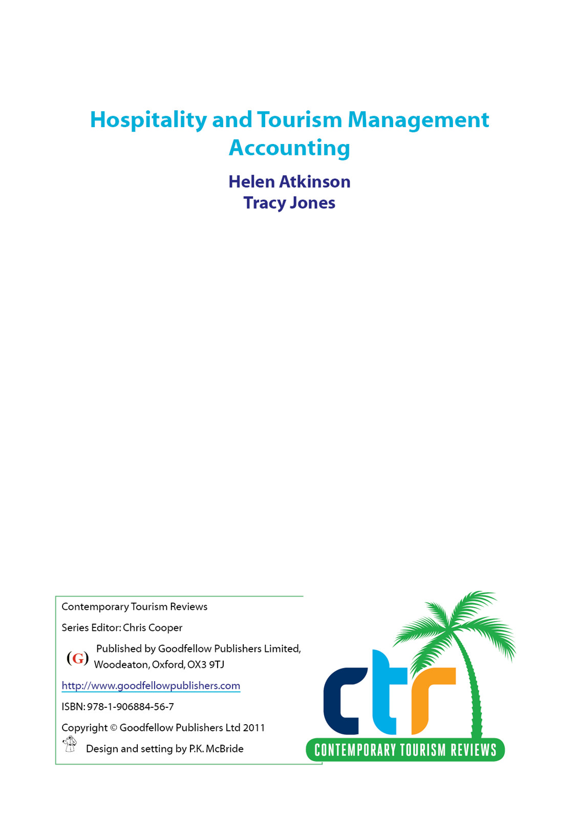 Hospitality and Tourism Management Accounting