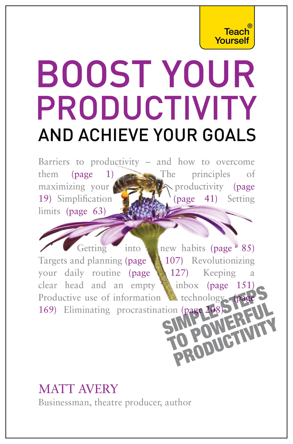 Boost Your Productivity and Achieve Your Goals: Teach Yourself