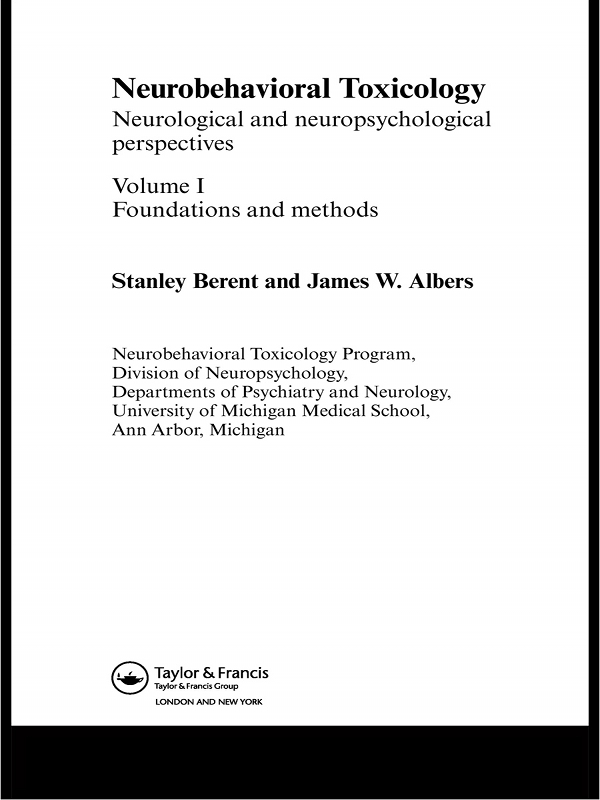 Neurobehavioral Toxicology Peripheral Nervous System